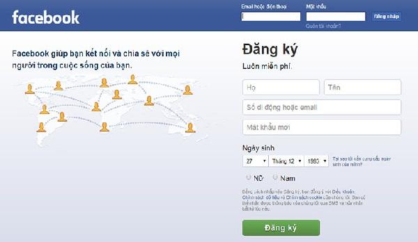 Đăng nhập tài khoản Facebook trên điện thoại hoặc laptop