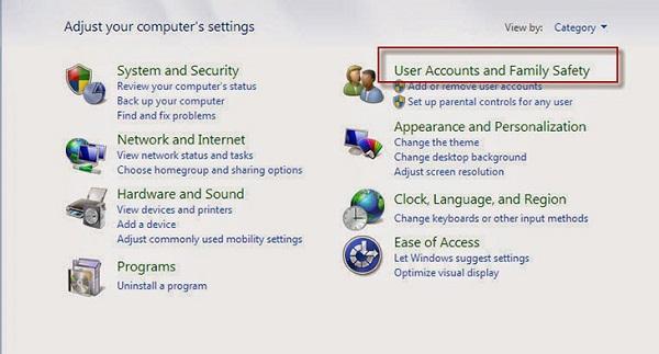 Bước 2 đổi pass máy tính trên Win 7