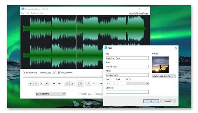 Free Audio Editor sở hữu giao diện đơn giản