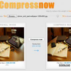 Giảm dung lượng ảnh online bằng compressnow. Nguồn: Internet