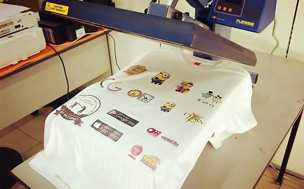 Cách in áo thun áo sơ mi chất lượng thường được áp dụng