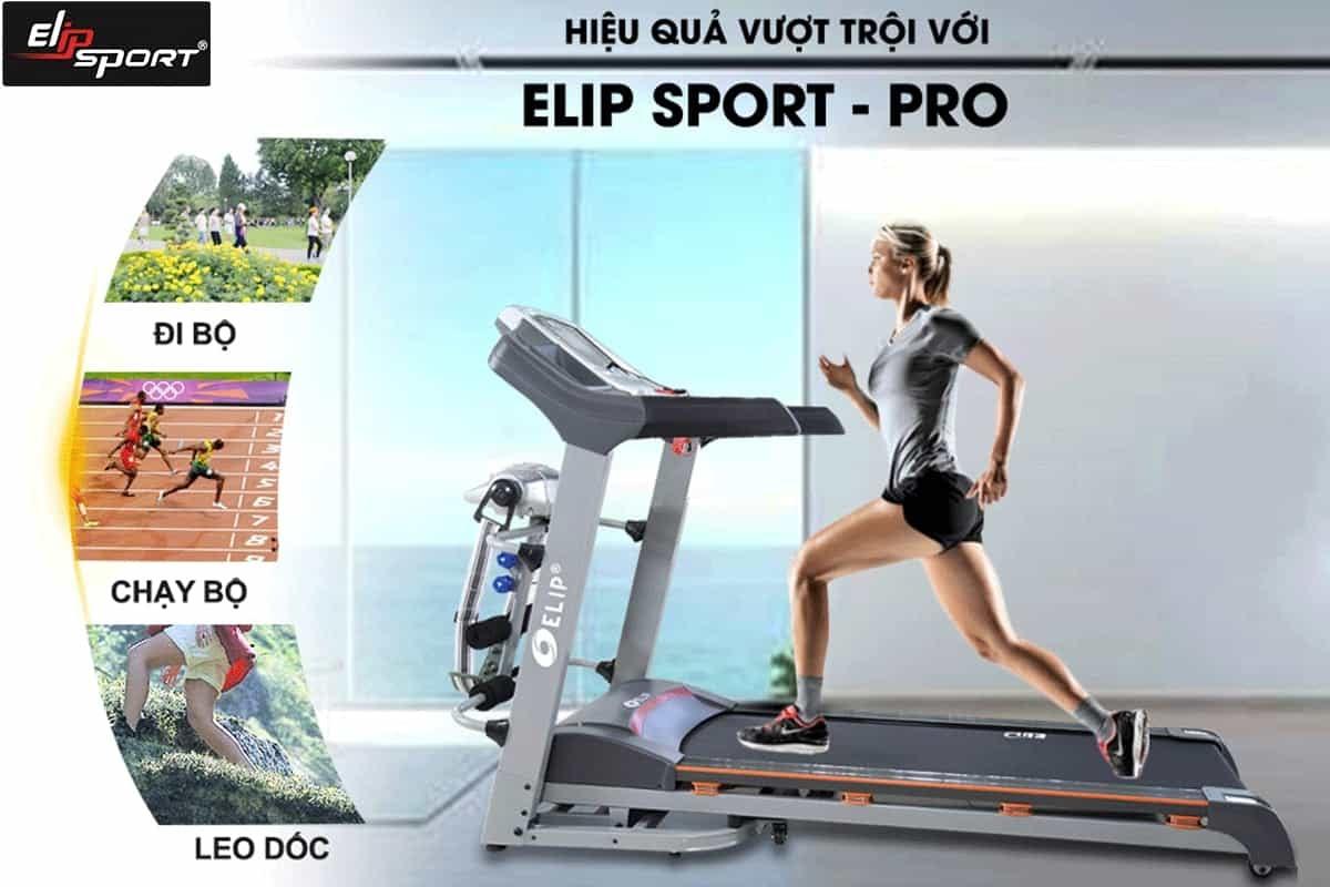 Tập luyện góc nghiêng cùng máy chạy bộ ELIP