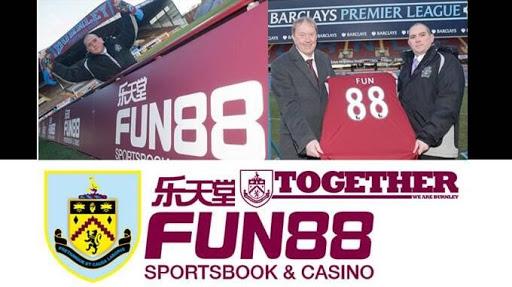 Fun88 là nhà cung ứng cho đội tuyển Burnley
