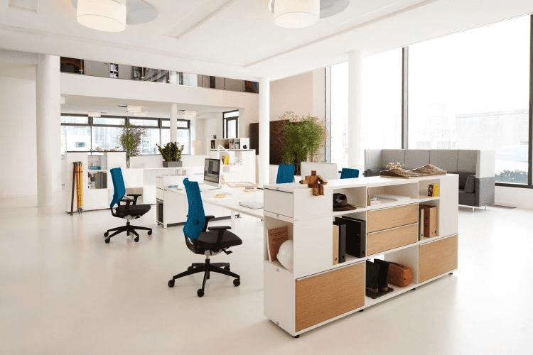 Văn phòng làm việc tối giản nhưng vẫn tiện nghi