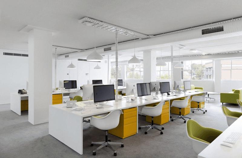 Văn phòng làm việc sử dụng nội thất thông minh
