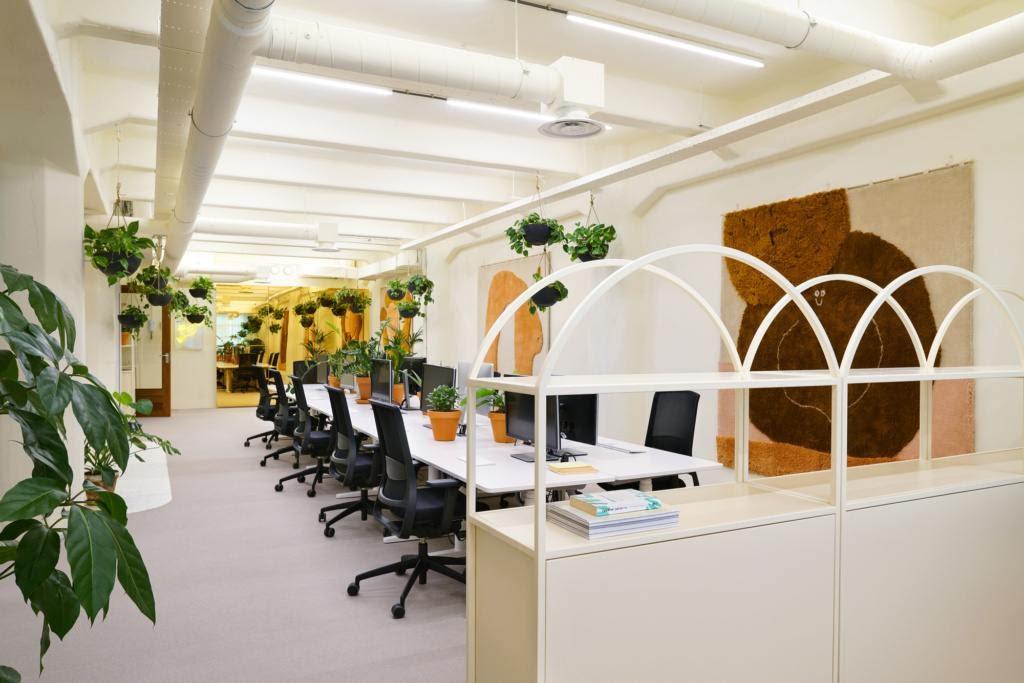 Văn phòng sử dụng màu sắc tươi sáng