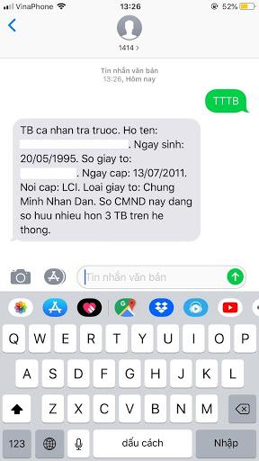 Kiểm tra sim Vinaphone đã được đăng ký chưa bằng cách soạn tin nhắn TTTB gửi 1414