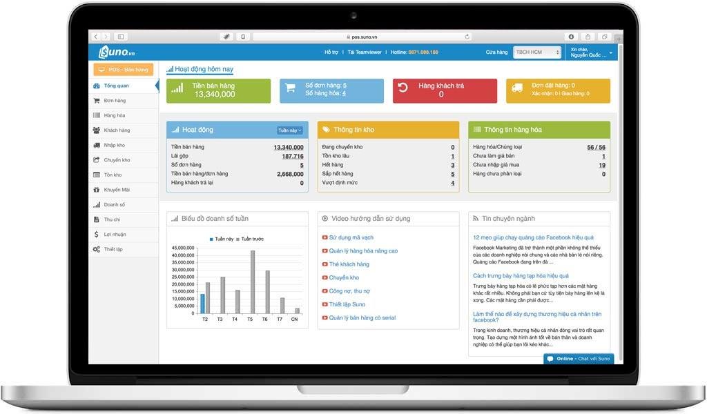 Mọi thông tin đơn hàng hay tính toán hóa đơn được tích hợp sẵn trên phần mềm